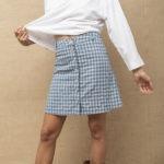 Falda azul Houle Vichi